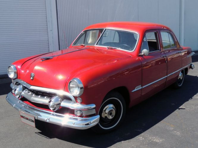 1951 Ford Sedan 4 Door Red Classic OLd Vintage USA 1520x1140-01 wallpaper