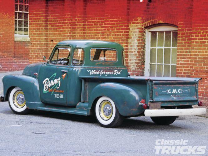 1951 GMC Pickup Hotrod Hot Rod Custom Kustom Old School USA 1600x1200-01 wallpaper