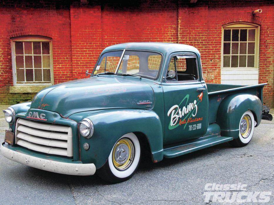 1951 GMC Pickup Hotrod Hot Rod Custom Kustom Old School USA 1600x1200-02 wallpaper