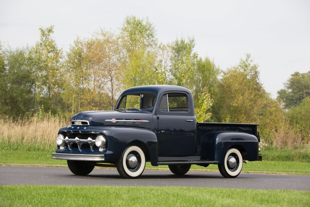 1951 Ford F-1 Pickup Old Classic Retro Vintage Original USA -01 wallpaper