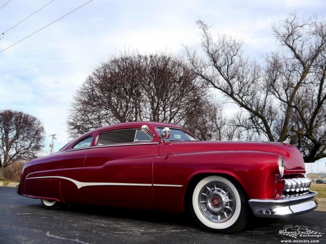 1951 Mercury Monterey Custom Hot Rod Kustom Old School Chopped Top Low USA -12 wallpaper