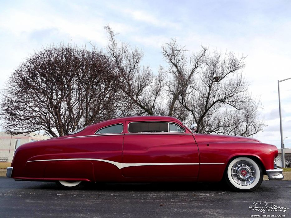 1951 Mercury Monterey Custom Hot Rod Kustom Old School Chopped Top Low USA -11 wallpaper
