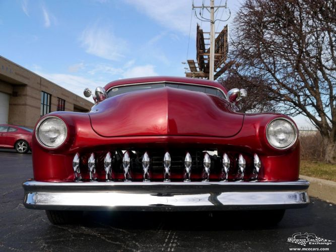 1951 Mercury Monterey Custom Hot Rod Kustom Old School Chopped Top Low USA -18 wallpaper