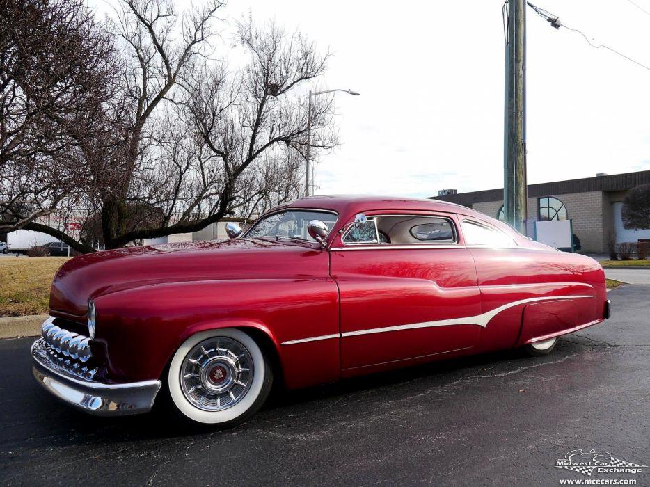 1951 Mercury Monterey Custom Hot Rod Kustom Old School Chopped Top Low USA -23 wallpaper