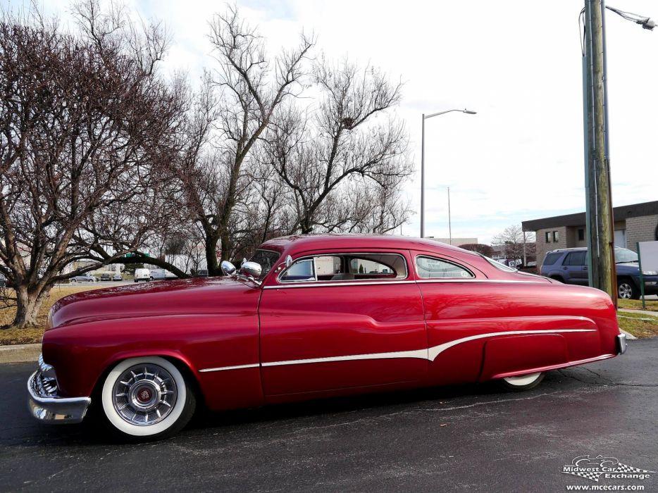1951 Mercury Monterey Custom Hot Rod Kustom Old School Chopped Top Low USA -22 wallpaper