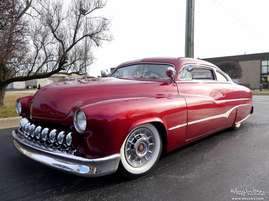 1951 Mercury Monterey Custom Hot Rod Kustom Old School Chopped Top ...