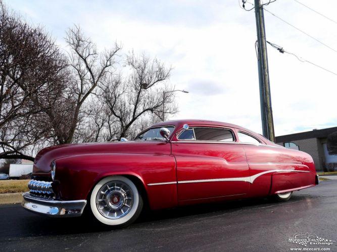 1951 Mercury Monterey Custom Hot Rod Kustom Old School Chopped Top Low USA -35 wallpaper