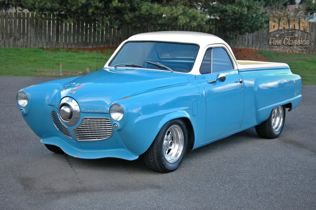 1951 Studebaker Commander Pickup Hotrod Streetrod Hot Rod Street USA 1500x1000-01 wallpaper