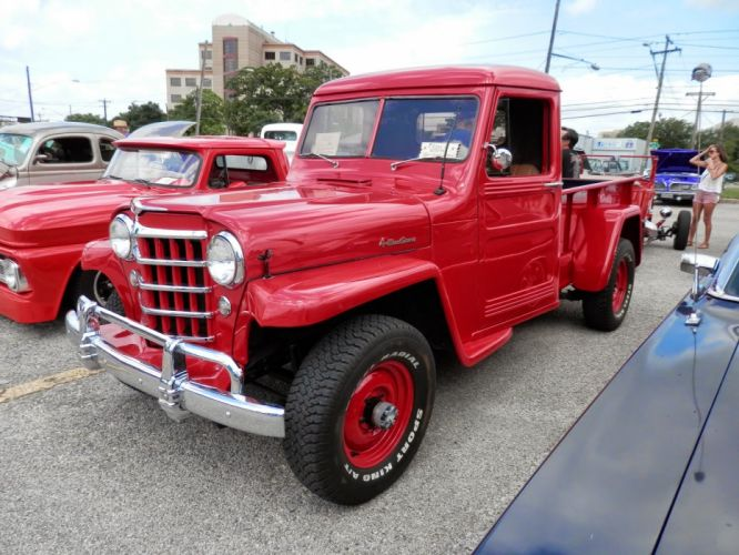 1951 Willys Pickup Red 4x4 Four Wheel Drive Classic Old Vintage USA 1600x1200-01 wallpaper