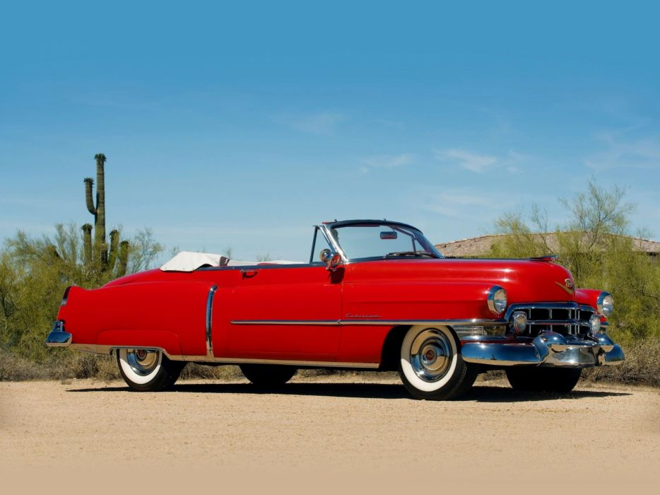 1952 Cadillac Series 62 Convertible Classic Old Vintage Retro USA 2048x1536-01 wallpaper