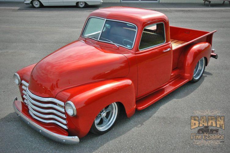 1952 Chevrolet 3100 Pickup Hotrod Streetrod Hot Rod Street Red USA 1500x1000-01 wallpaper