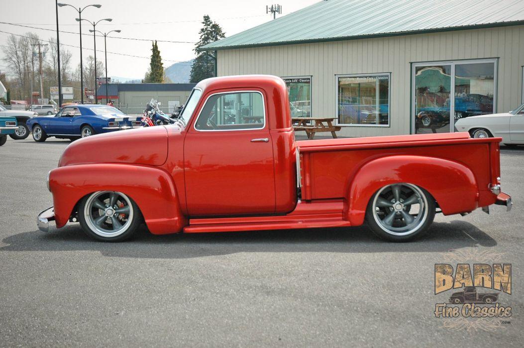 1952 Chevrolet 3100 Pickup Hotrod Streetrod Hot Rod Street Red USA 1500x1000-04 wallpaper