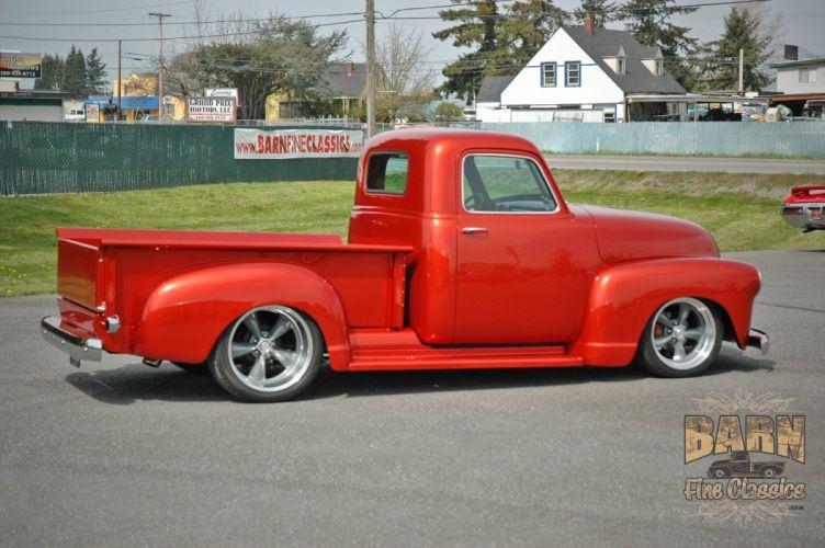 1952 Chevrolet 3100 Pickup Hotrod Streetrod Hot Rod Street Red USA 1500x1000-08 wallpaper