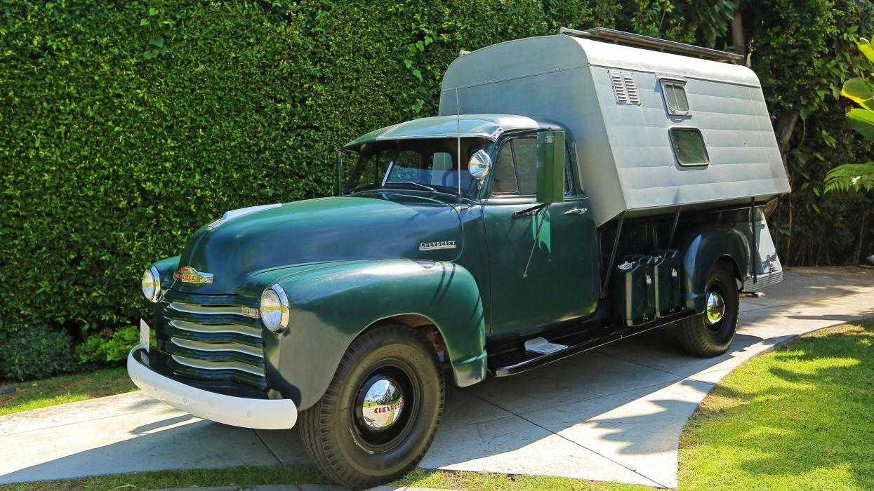 1952 Chevrolet 3100 Steve McQueen Custom Camper Pickup Classic Old Vintage Retro Original USA 01