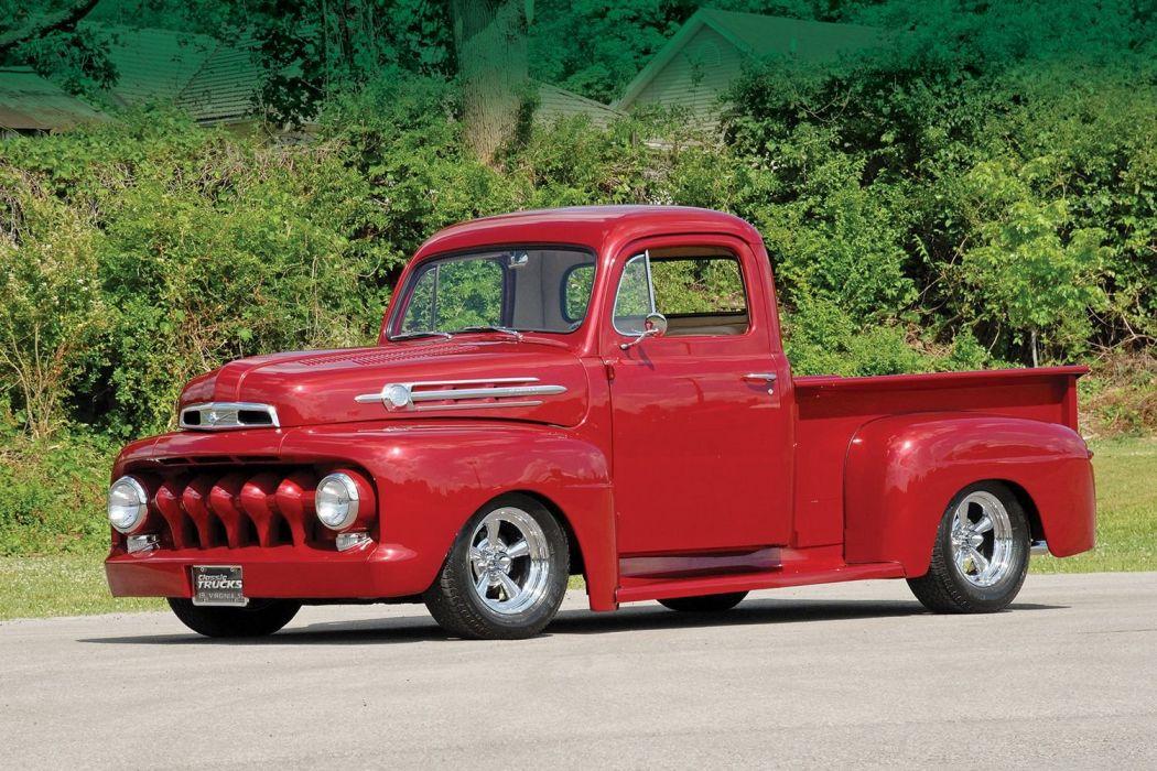 1952 Ford F1 Pickup Hotrod Streetrod Hot Rod Street USA 1500x1000-01 wallpaper