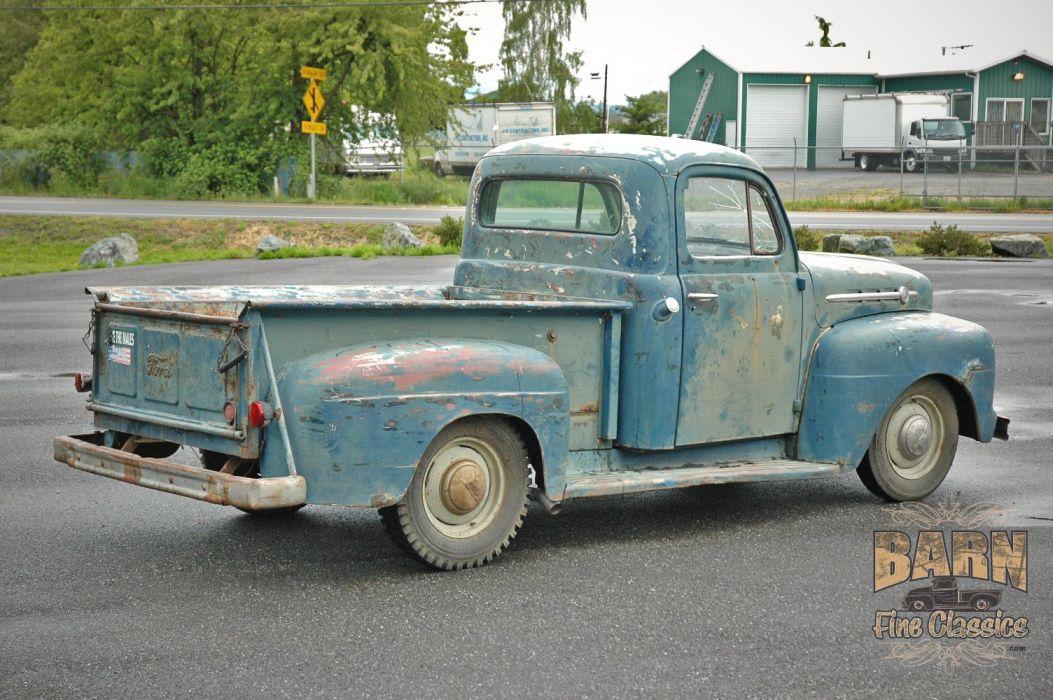 1952 Ford F1 Pickup Rust Old Classic USA 1500x1000-01 wallpaper