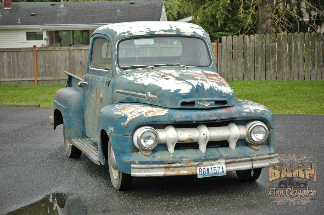 1952 Ford F1 Pickup Rust Old Classic USA 1500x1000-05 wallpaper