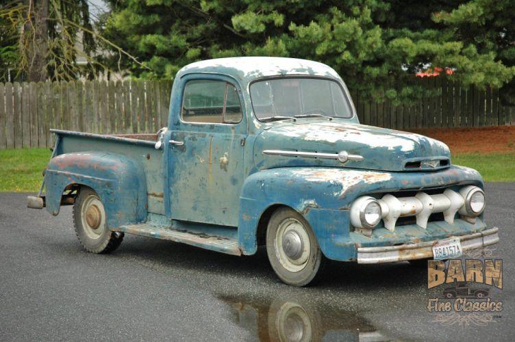 1952 Ford F1 Pickup Rust Old Classic USA 1500x1000-04 wallpaper