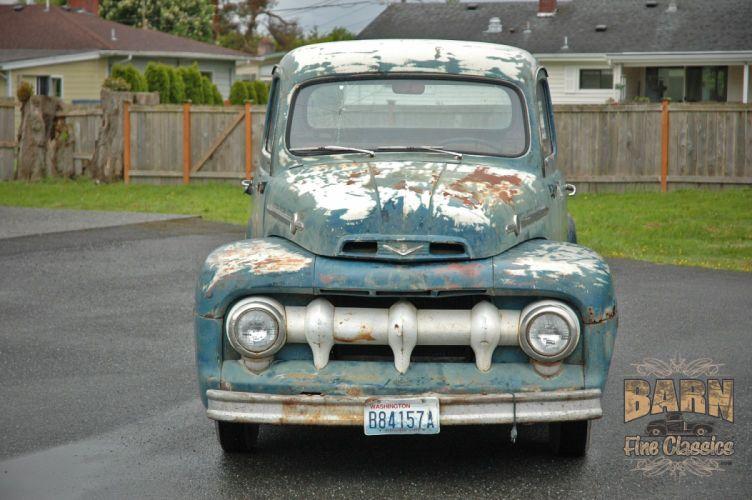 1952 Ford F1 Pickup Rust Old Classic USA 1500x1000-06 wallpaper