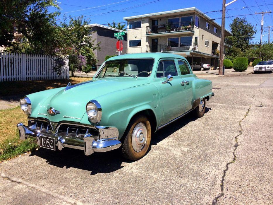 1952 Studebaker Champion Sedan 4 Door Classic Old Vintage Original Retro USA 1600x1200-01 wallpaper