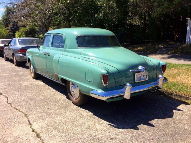 1952 Studebaker Champion Sedan 4 Door Classic Old Vintage Original Retro USA 1600x1200-02 wallpaper