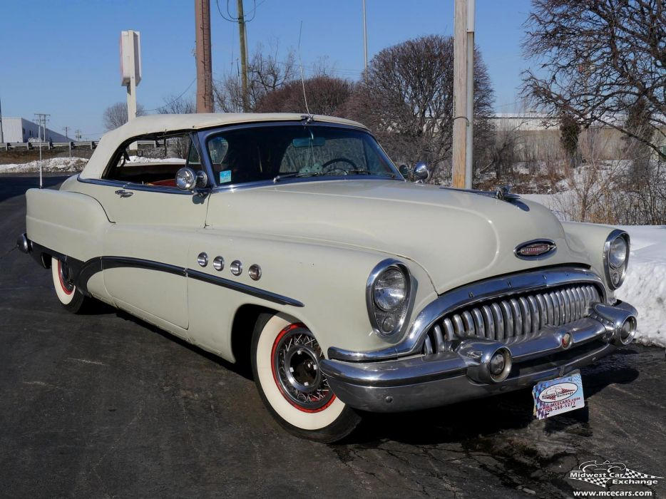 1953 Buick Eight Roadmaster Convertible Classic Old Vintage Original USA -02 wallpaper