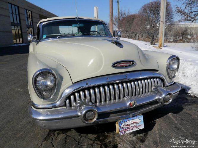 1953 Buick Eight Roadmaster Convertible Classic Old Vintage Original USA -06 wallpaper