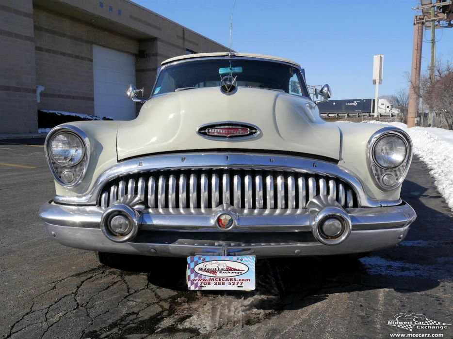 1953 Buick Eight Roadmaster Convertible Classic Old Vintage Original USA -05 wallpaper