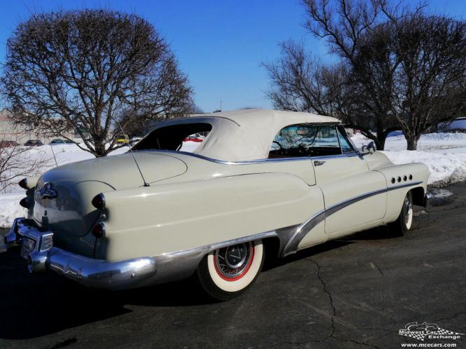 1953 Buick Eight Roadmaster Convertible Classic Old Vintage Original USA -08 wallpaper