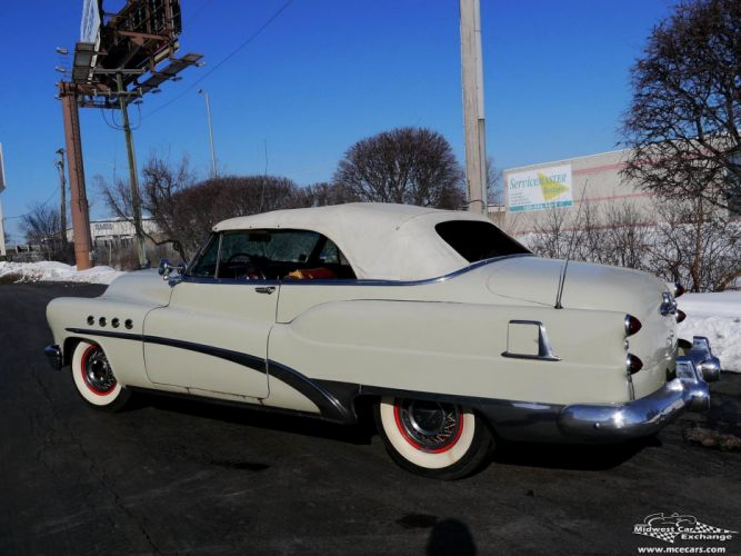 1953 Buick Eight Roadmaster Convertible Classic Old Vintage Original USA -14 wallpaper