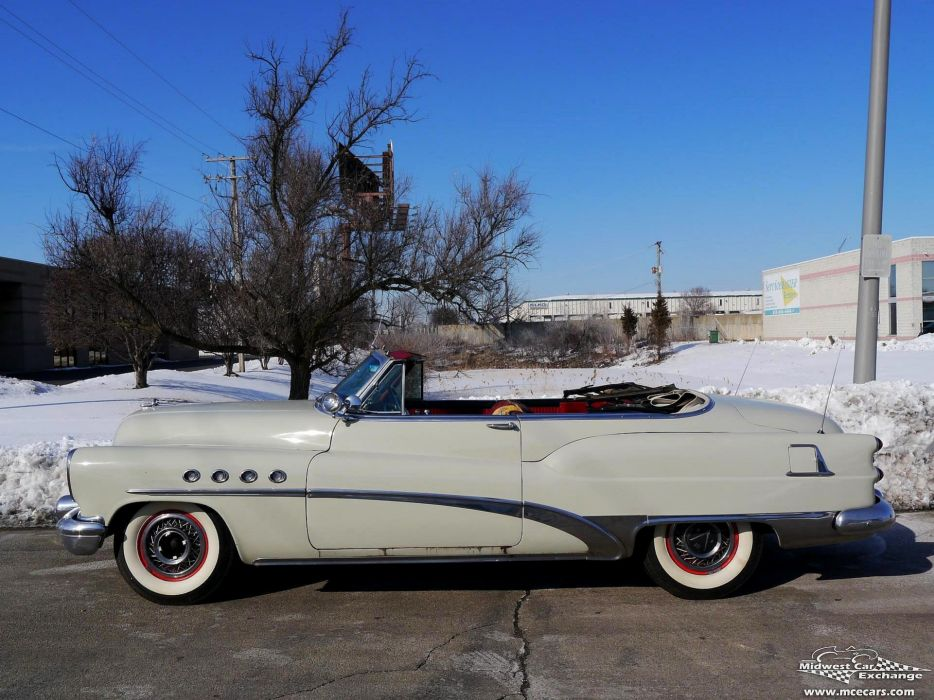 1953 Buick Eight Roadmaster Convertible Classic Old Vintage Original USA -20 wallpaper