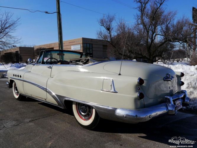 1953 Buick Eight Roadmaster Convertible Classic Old Vintage Original USA -23 wallpaper