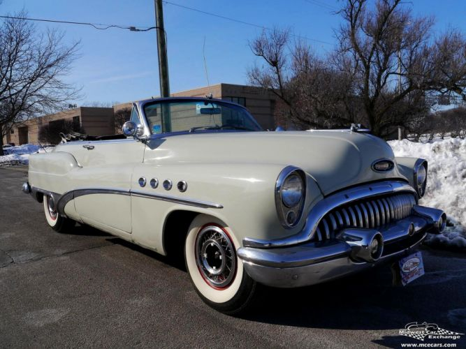 1953 Buick Eight Roadmaster Convertible Classic Old Vintage Original USA -25 wallpaper