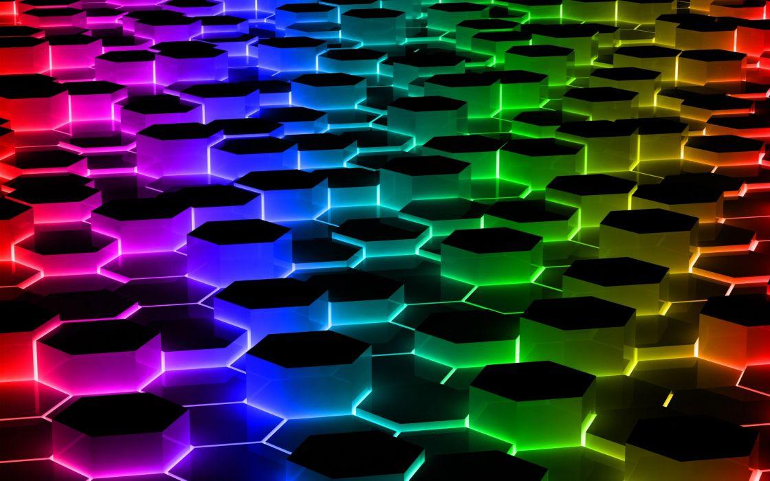 abstracto ondas abujeros colores wallpaper