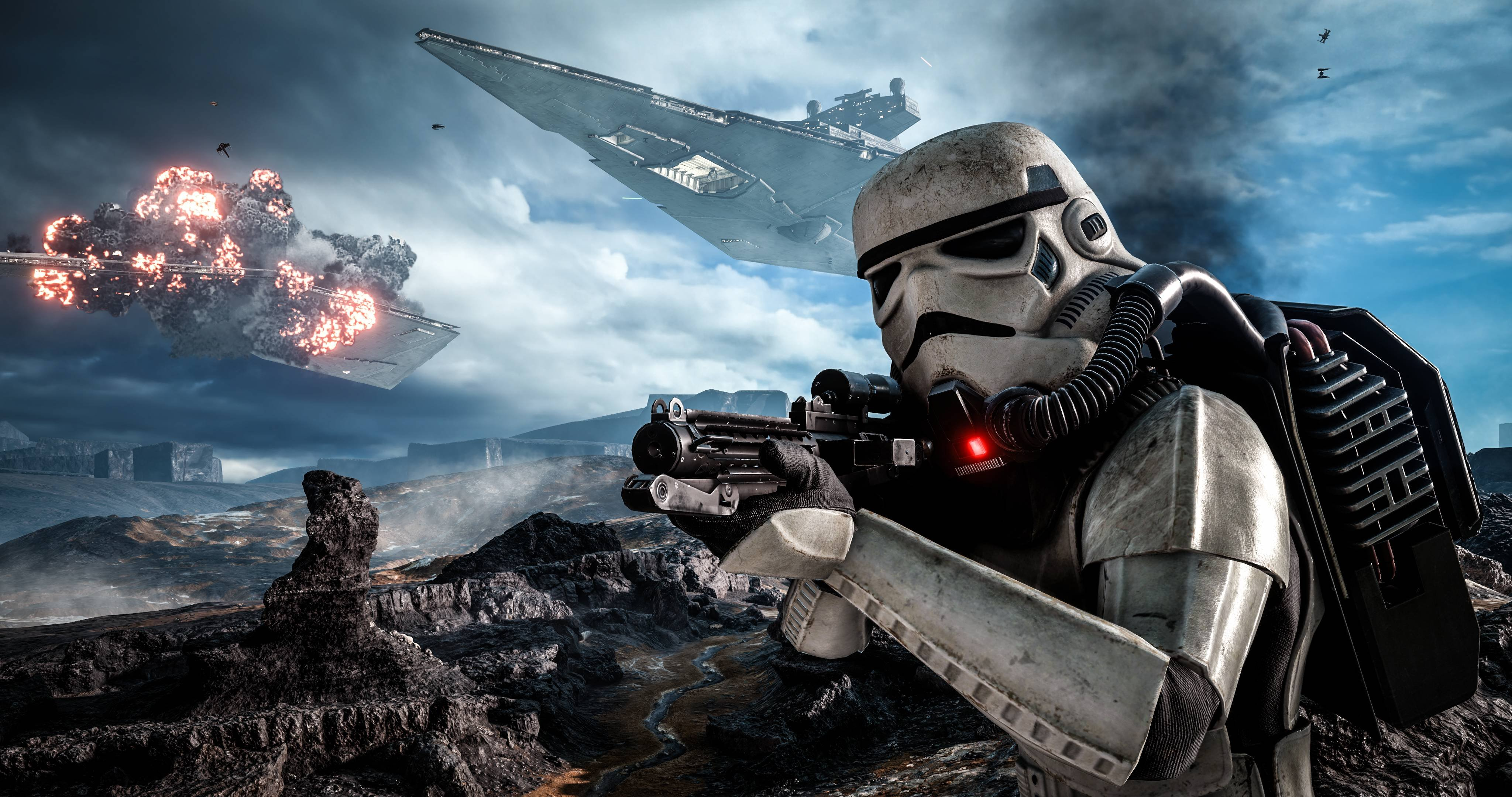 Star wars battlefront sci fi 1swbattlefront action fighting futuristic shooter wallpaper - 4096x2160 wallpaper ...