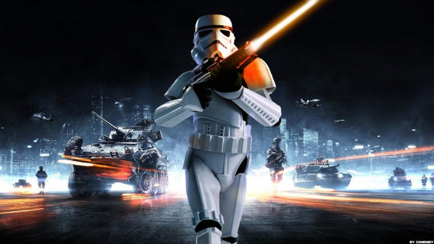 STAR WARS BATTLEFRONT sci-fi 1swbattlefront action fighting futuristic shooter poster battlefield wallpaper