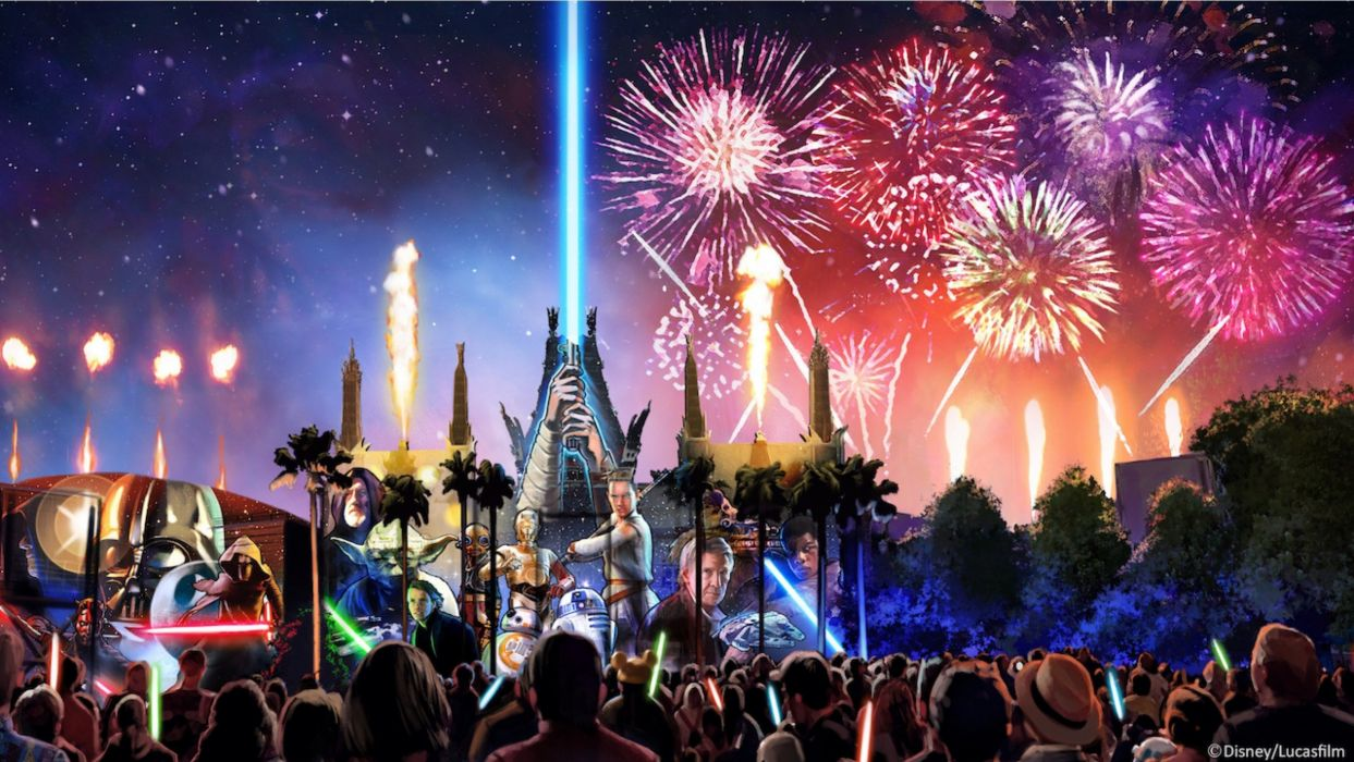 STAR WARS sci-fi action fighting futuristic series adventure disney poster fireworks wallpaper