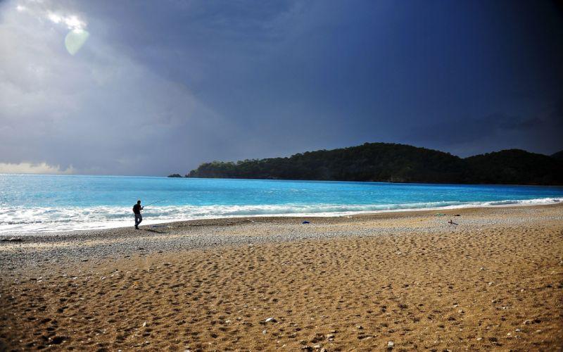 seaaeYaeY beach landscape light wallpaper