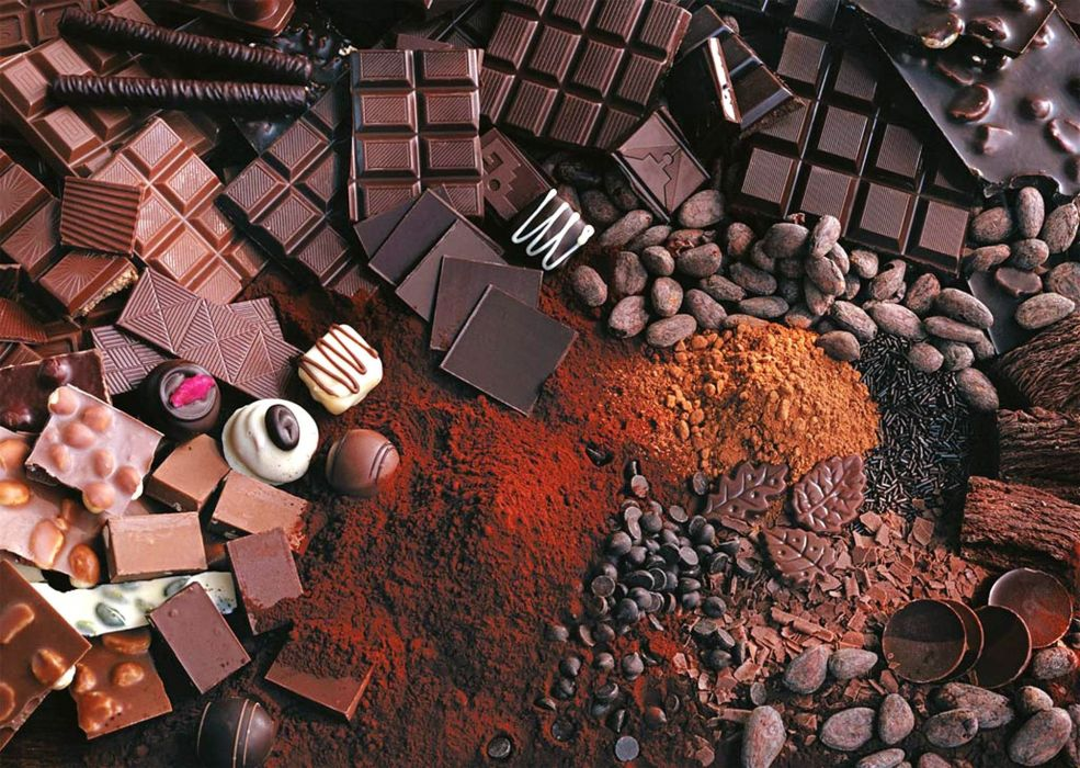 chocolate allsorts sweet nuts cocoa wallpaper