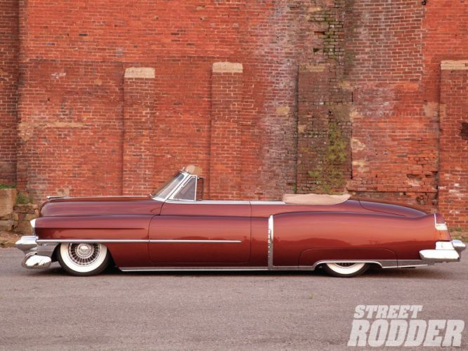 1953 Cadillac Series 62 Convertible Hotrod Hot ROd Custom Lowered Low USA 1600x1200-01 wallpaper