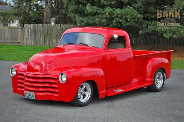 1953 Chevrolet 3100 Pickup Hotrod Hot Rod Streetrod Street Red USA 1500x1000-01 wallpaper