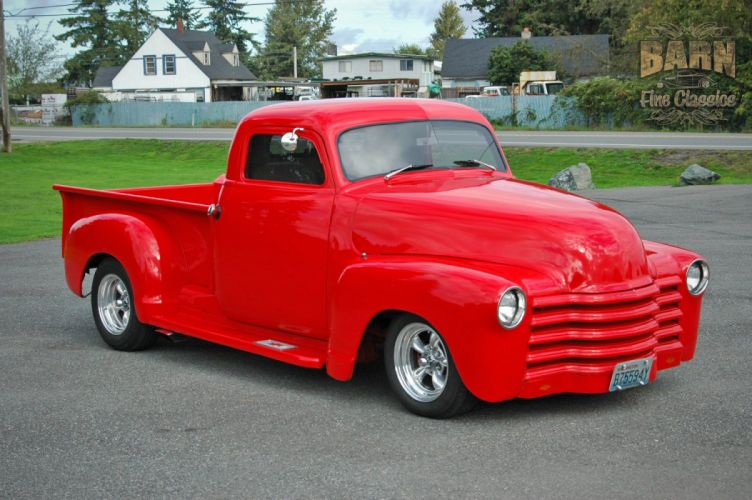 1953 Chevrolet 3100 Pickup Hotrod Hot Rod Streetrod Street Red USA 1500x1000-05 wallpaper