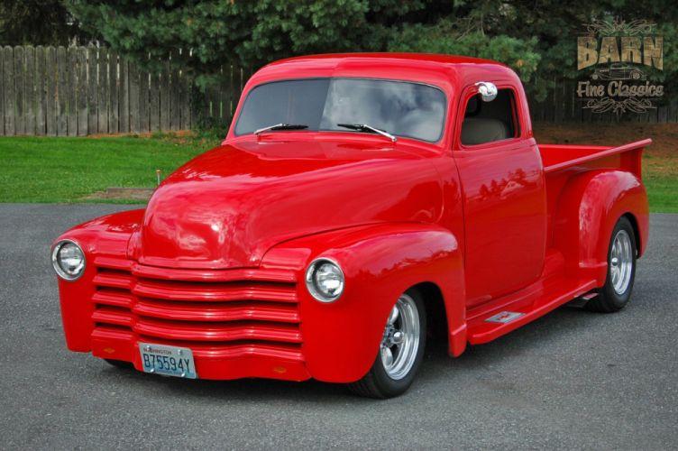 1953 Chevrolet 3100 Pickup Hotrod Hot Rod Streetrod Street Red USA 1500x1000-10 wallpaper