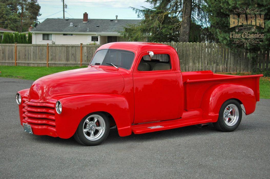 1953 Chevrolet 3100 Pickup Hotrod Hot Rod Streetrod Street Red USA 1500x1000-12 wallpaper