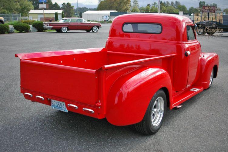 1953 Chevrolet 3100 Pickup Hotrod Hot Rod Streetrod Street Red USA 1500x1000-18 wallpaper