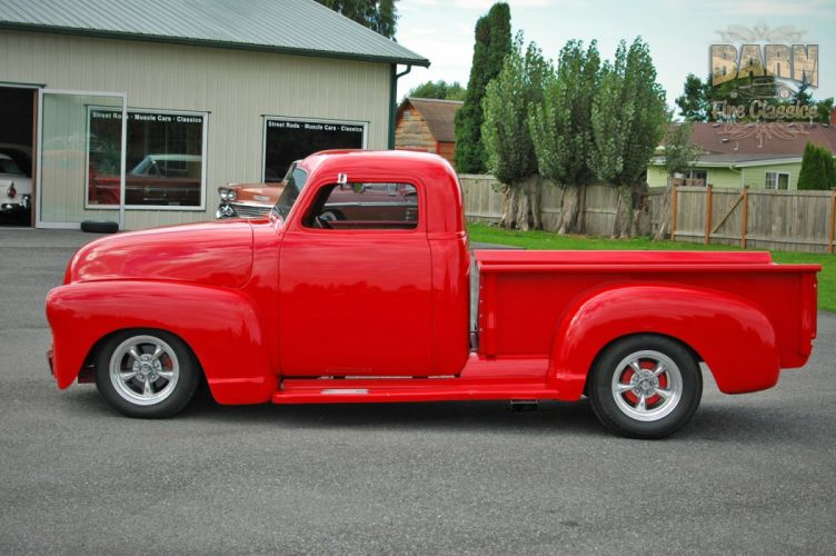 1953 Chevrolet 3100 Pickup Hotrod Hot Rod Streetrod Street Red USA 1500x1000-20 wallpaper