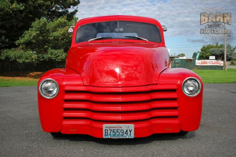 1953 Chevrolet 3100 Pickup Hotrod Hot Rod Streetrod Street Red USA 1500x1000-24 wallpaper