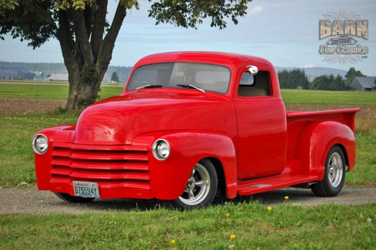 1953 Chevrolet 3100 Pickup Hotrod Hot Rod Streetrod Street Red USA 1500x1000-25 wallpaper