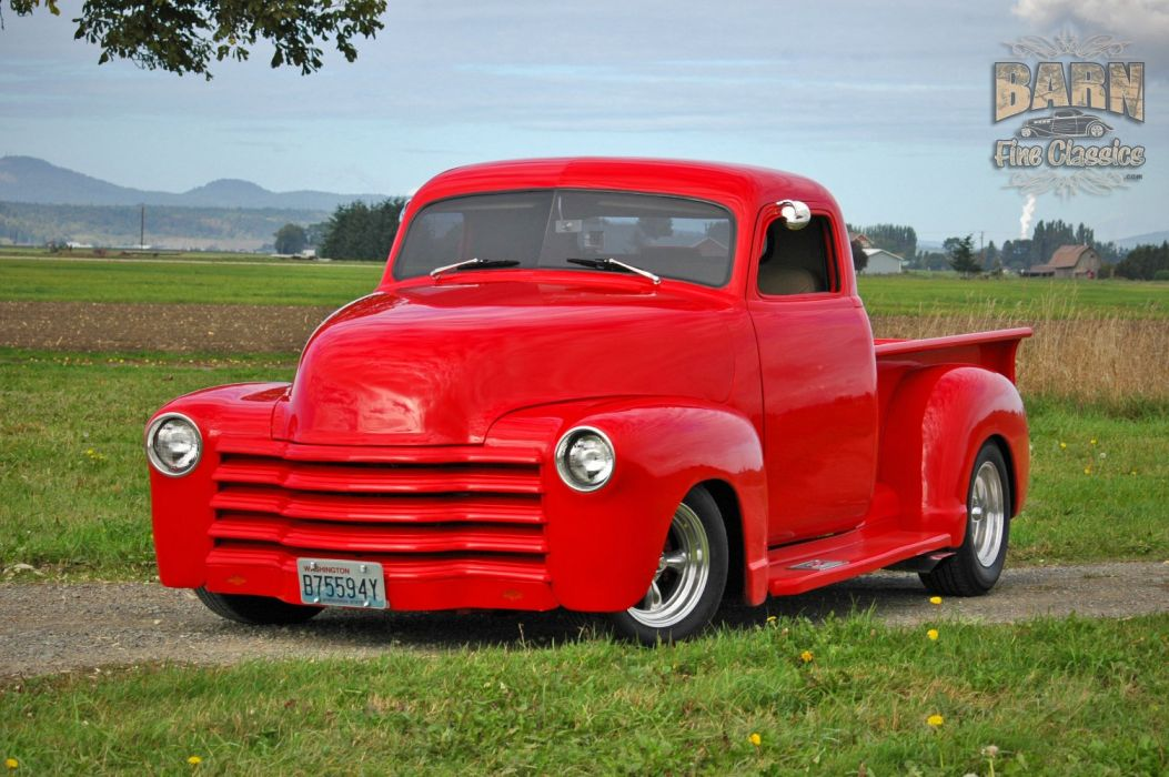 1953 Chevrolet 3100 Pickup Hotrod Hot Rod Streetrod Street Red USA 1500x1000-26 wallpaper