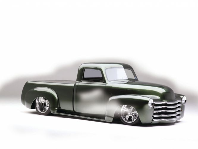 1953 Chevrolet 3100 Pickup Hotrod Streetrod Hot Rod Street Lowered Low USA 1600x1200-04 wallpaper